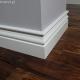 Biala listwa podlogowa lakierowana - Profil 4 - wymiary 150/18 mm