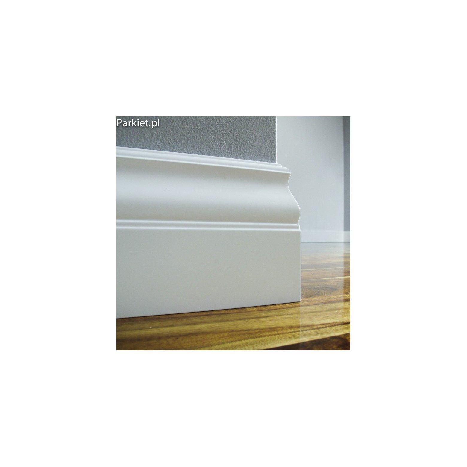 Biala listwa podlogowa lakierowana - Avila