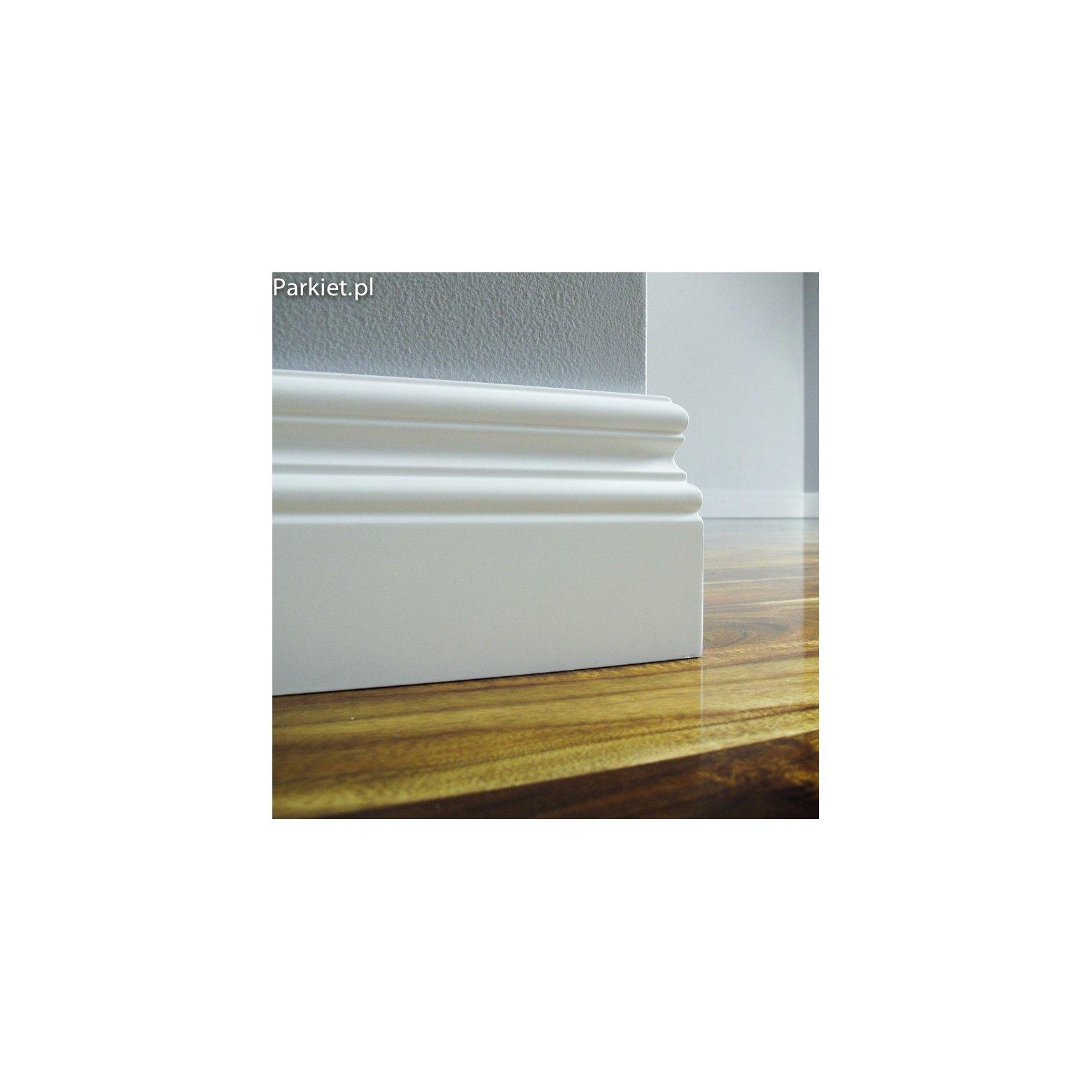 Biala listwa podlogowa lakierowana - Bordo - wymiary 120/18 mm