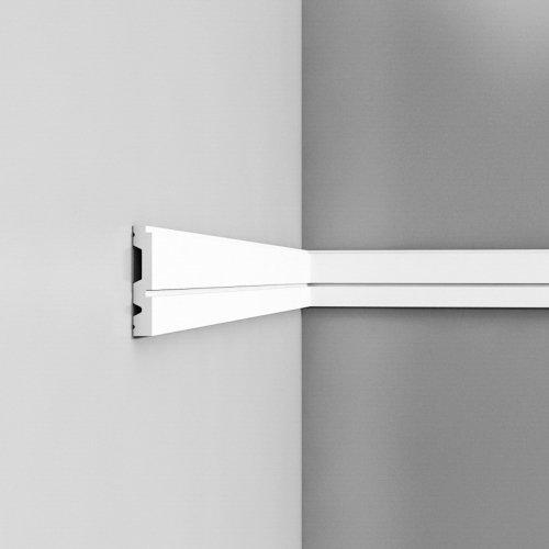 Listwa ścienna gładkaODP5051* (wym.200x1.5x8.4cm)