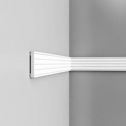 Listwa ścienna gładka gięta (flex) P5020F (wym.200x1.3x9.1cm)
