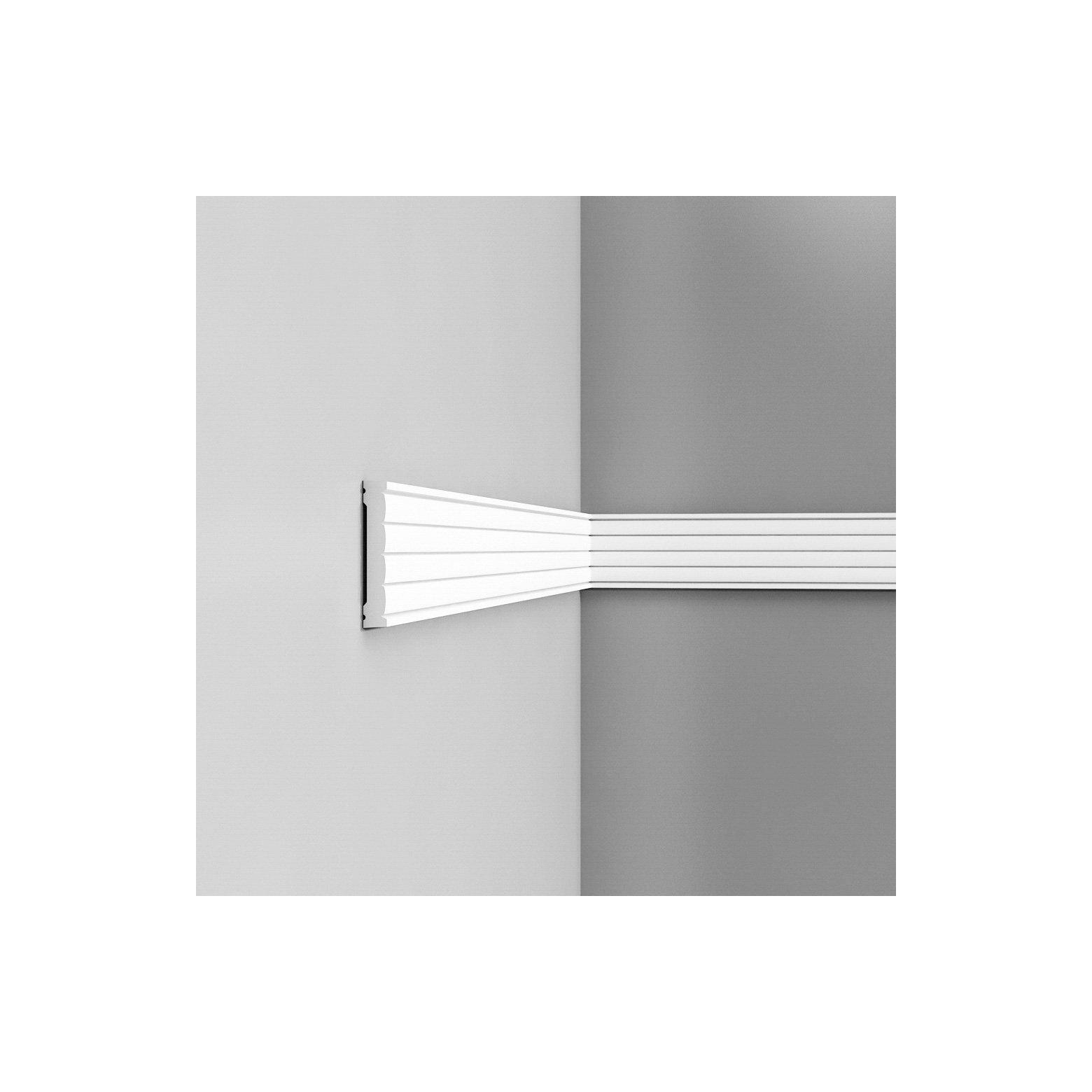 Listwa ścienna gładka gięta ODP5020F (wym.200x1.3x9.1cm)