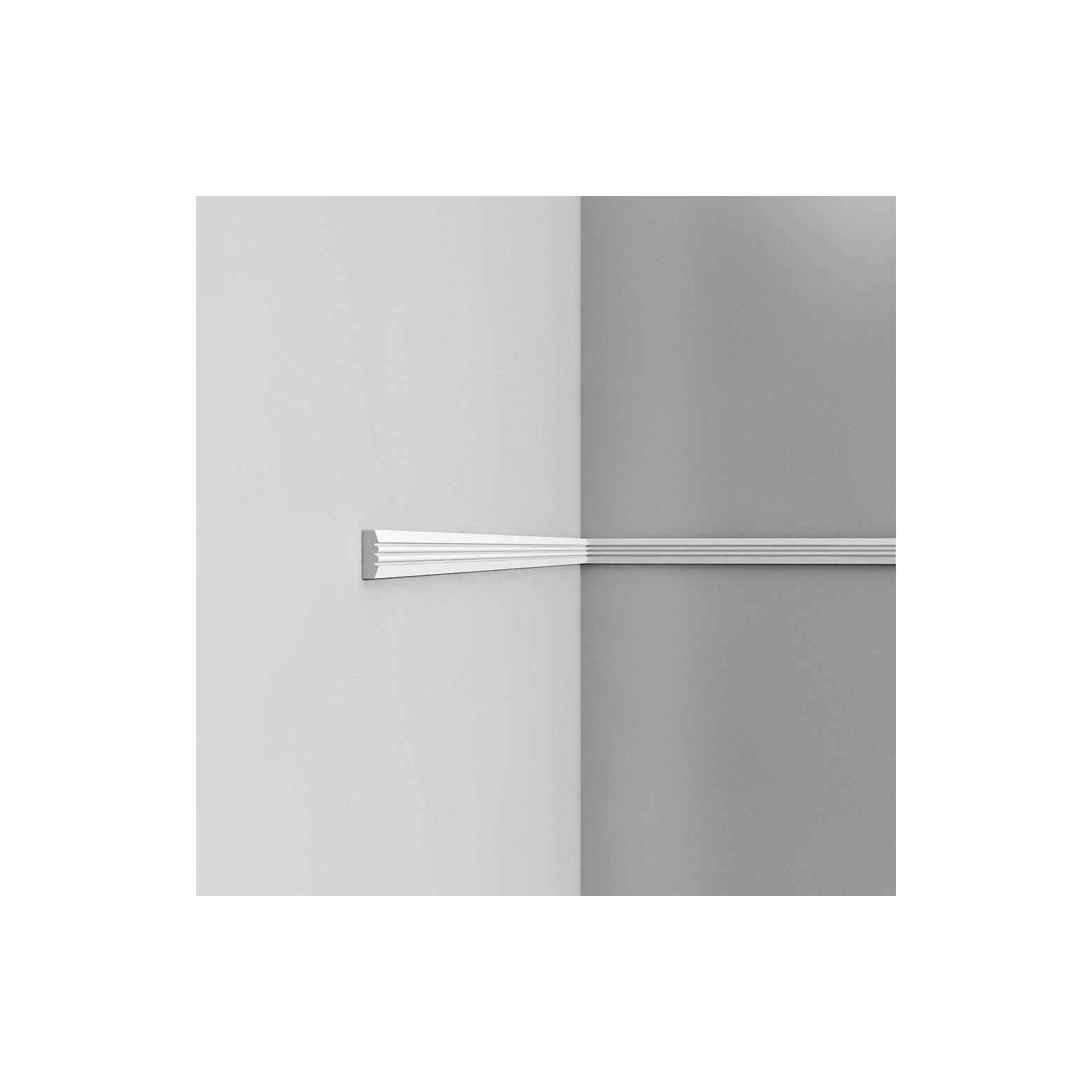 Listwa ścienna gładka gięta ODP5021F (wym.200x0.9x3.1cm)
