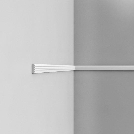 Listwa ścienna gładka gięta (flex) P5021F (wym.200x0.9x3.1cm)