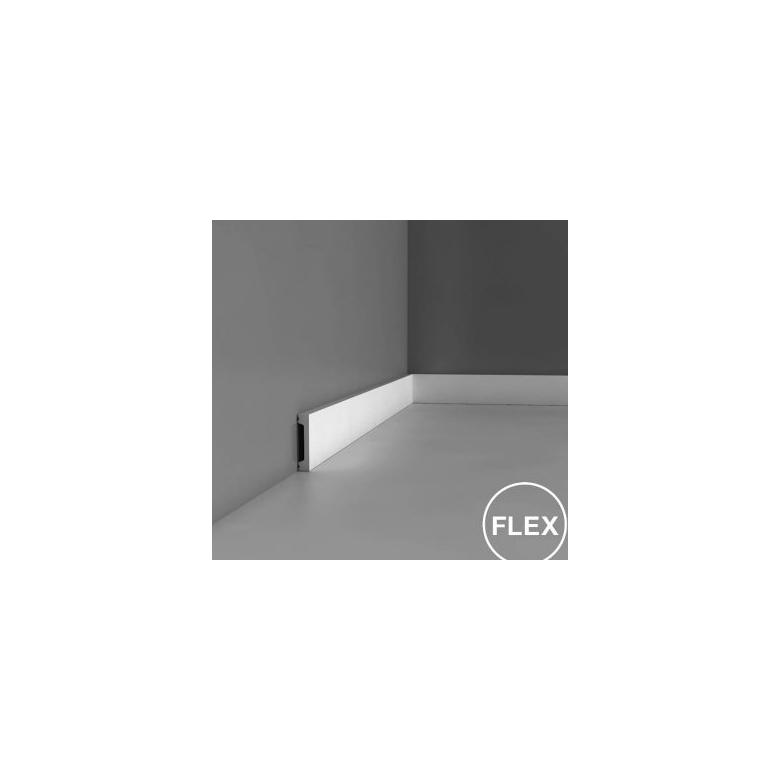 Listwa ścienna gładka gięta wielofunkcyjna ODDX157F* (wym.200x1.3x6.6cm)