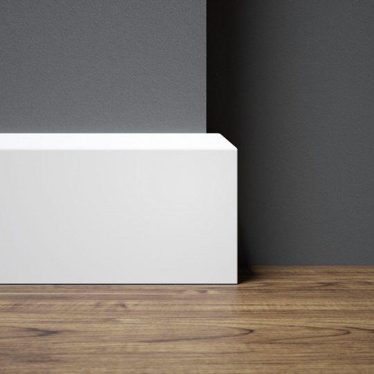 Listwa przypodłogowa biała lakierowana MDF WILGOCIOODPORNY (Nexo - 80x16 mm)