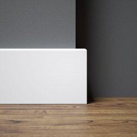Listwa przypodłogowa o wysokości 78 mm w kolorze białym o prostym profilu R5