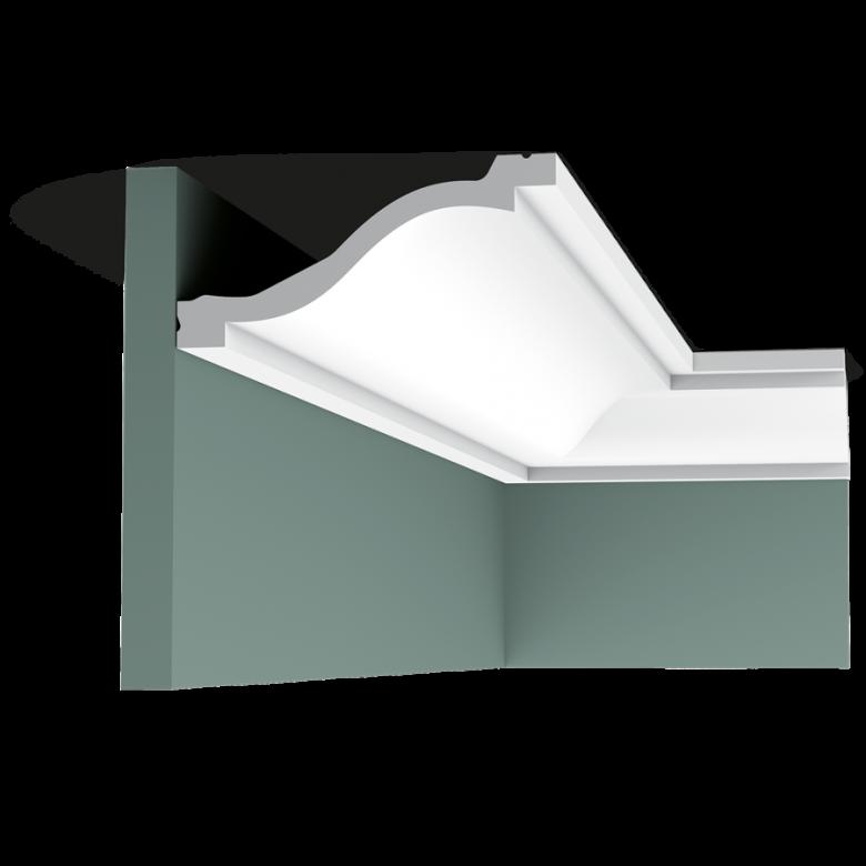 Listwa przysufitowa gładka C331* (wym.200x13.5x6.4cm)