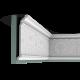 Listwa przysufitowa gięta (flex) zdobiona C308F (wym.200x6,3x24,8cm)