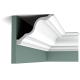 Listwa przysufitowa gięta (flex) gładka C334F (wym.200x19,6x15cm)