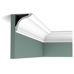 Listwa przysufitowa gięta (flex) gładka CX127F (wym.200x9,4x9,4cm)
