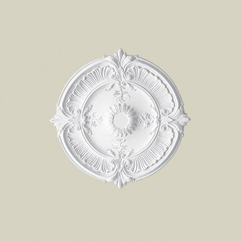 Ozdobna rozeta dekoracyjna jest doskonałym elementem dopełniającym wystrój wnętrza. Ten model rozety Creativa R-16 Creativa by C