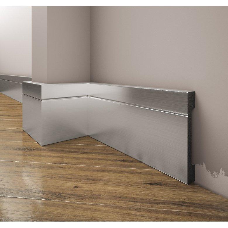 Listwa przypodłogowa poliuretanowa, cokół Creativa LPC-20a / dł. 244 cm kolor aluminium