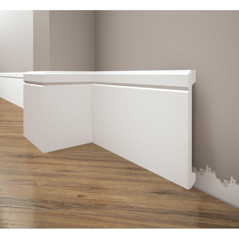 Listwa przypodłogowa poliuretanowa biała, Creativa / model LPC-30 / dł. 244 cm