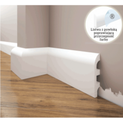 Listwa przypodłogowa poliuretanowa biała, Creativa / model LPC-19 / dł. 244 cm Creativa by Cezar - 1