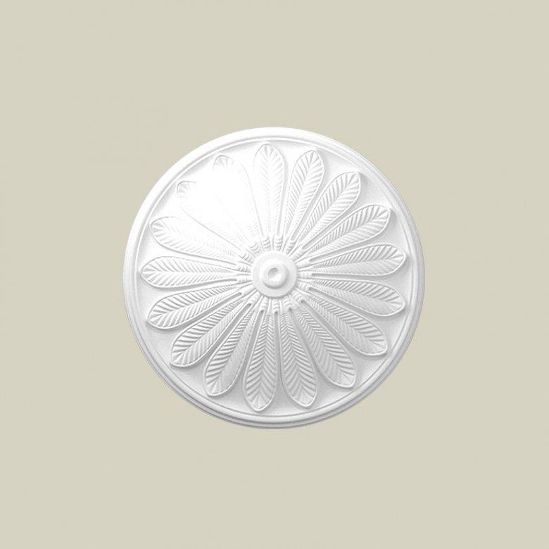 Ozdobna rozeta dekoracyjna jest doskonałym elementem dopełniającym wystrój wnętrza. Ten model rozety Creativa R-06