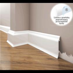 Listwa przypodłogowa poliuretanowa biała, Creativa / model LPC-16 / dł. 244 cm