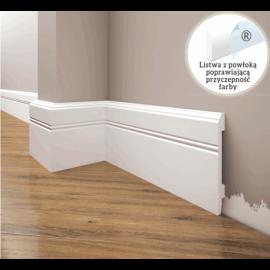 Listwa przypodłogowa poliuretanowa biała, Creativa / model LPC-18 / dł. 244 cm