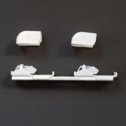 Uchwyt sufitowy do szyn aluminiowych podwójnych + zaślepki