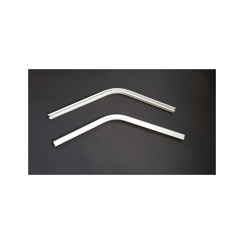 Łuk szyny aluminiowej pojedynczy 135 stopni biały