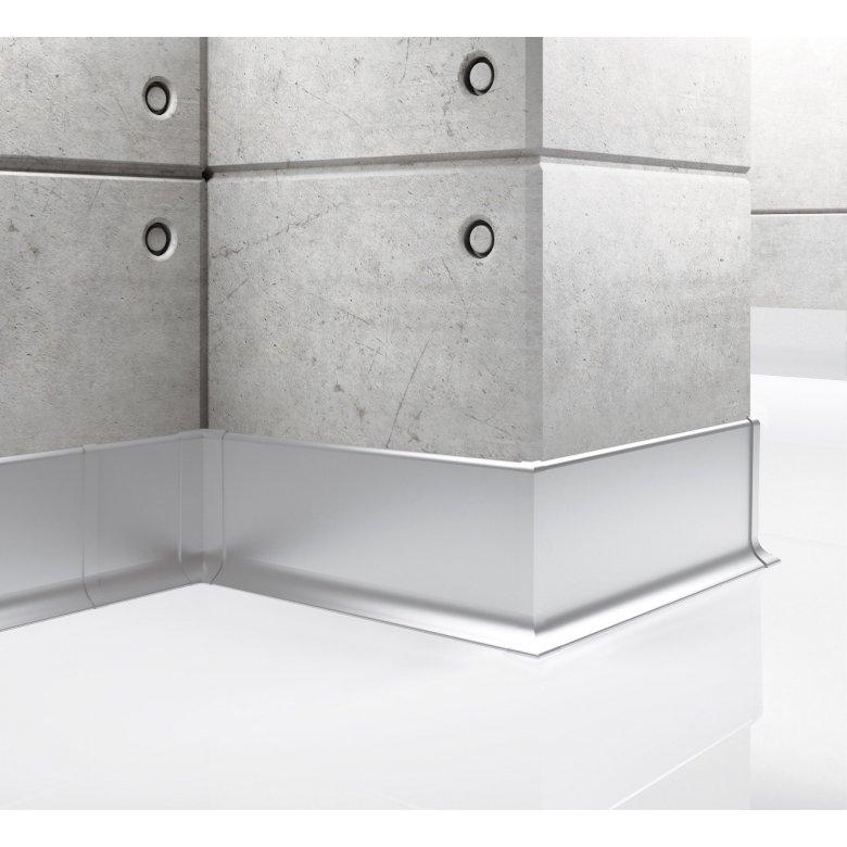 Listwa przypodłogowa aluminiowa, Creativa / cokół aluminiowy LP59 / dł. 250 cm Creativa by Cezar - 1