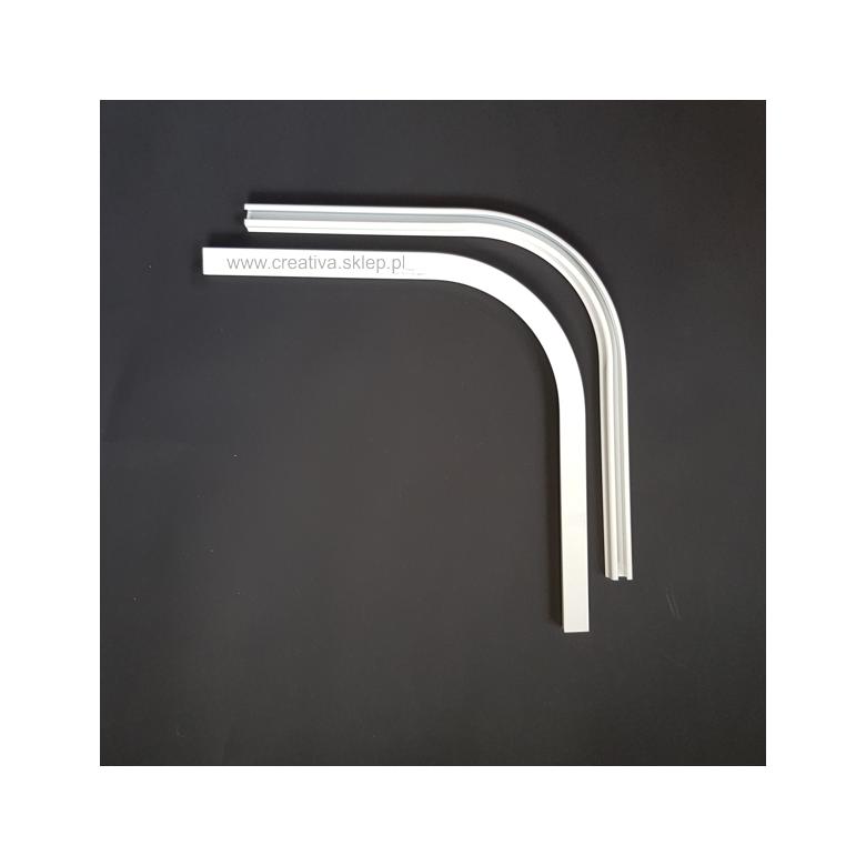 Łuk szyny aluminiowej pojedynczy 90 stopni biały Creativa by Cezar - 1