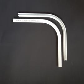 Łuk szyny aluminiowej pojedynczy 90 stopni biały