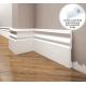 Listwa przypodłogowa poliuretanowa biała, Creativa / model LPC-09 / dł. 244 cm Creativa by Cezar - 1