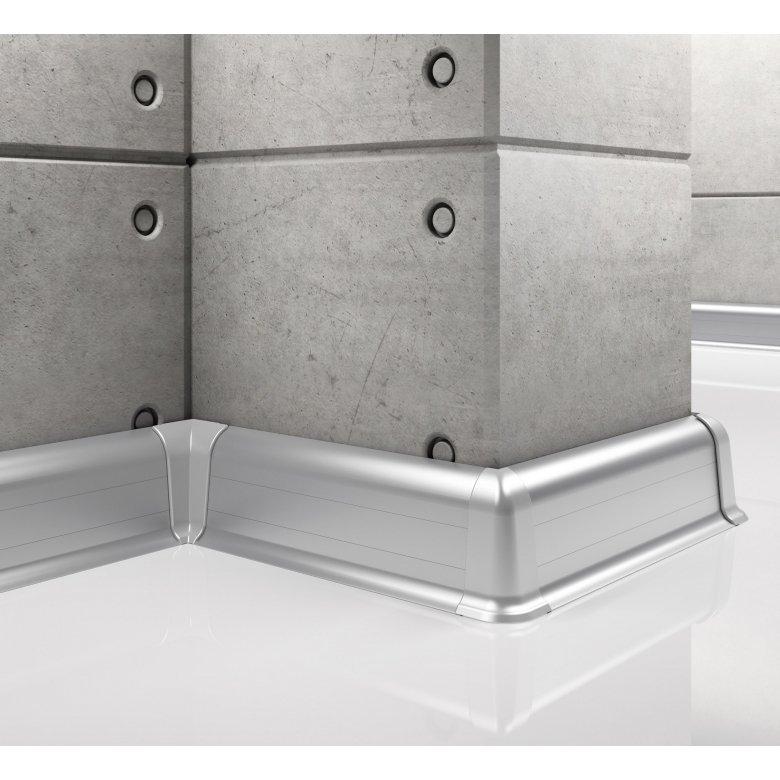 Listwa przypodłogowa aluminiowa, Creativa / cokół aluminiowy LP55 / dł. 250 cm Creativa by Cezar - 1