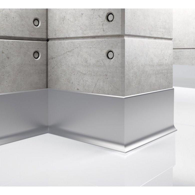 Listwa przypodłogowa aluminiowa, Creativa / cokół aluminiowy LP80 / dł. 250 cm Creativa by Cezar - 1