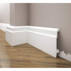 Listwa przypodłogowa poliuretanowa biała, Creativa / model LPC-26 / dł. 244 cm