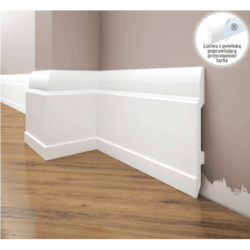 Listwa przypodłogowa poliuretanowa biała, Creativa / model LPC-25 / dł. 244 cm