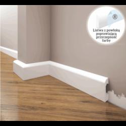 Listwa przypodłogowa poliuretanowa biała, Creativa / model LPC-04. / dł. 244 cm