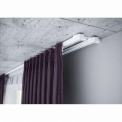 Szara Aluminiowa szyna do firan podwójna kompletna ZS2-100 | 100cm Creativa by Cezar - 1