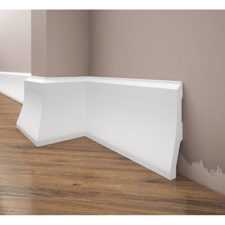 Listwa przypodłogowa poliuretanowa biała, Creativa / model LPC-34 / dł. 244 cm Creativa by Cezar - 1