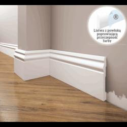 Listwa przypodłogowa poliuretanowa biała, Creativa / model LPC-08 / dł. 244 cm