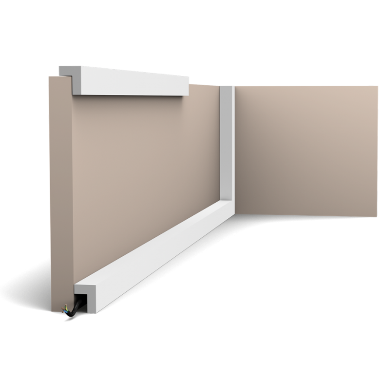 Listwa wielofunkcyjna gładka PX164* (wym.200x3x2.4cm)