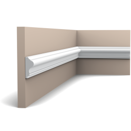 Listwa ścienna gładka gięta (flex) P8030F (wym.200x1.7x4.1cm)