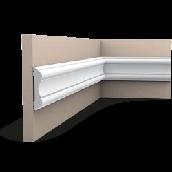 Listwa ścienna gładka gięta (flex) P8040F (wym.200x2.2x10.1cm)
