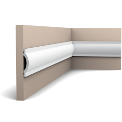 Listwa ścienna gładka gięta P9901F (wym.200x1.4x7cm)