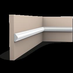 Listwa ścienna gładka gięta ODPX103F* (wym.200x1.2x2.5cm)