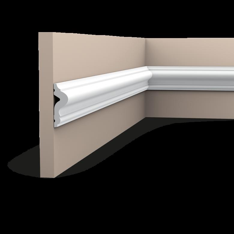 Listwa ścienna gładka gięta PX175F (wym.200x5x1.7cm)