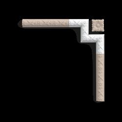 Narożnik P201A (do P2020) (wym.19.5x19.5x2.6cm)