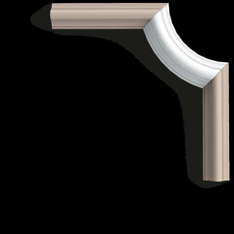 Narożnik P4020A (do listwy P4020) (wym.16.4x9.1x2.9cm)