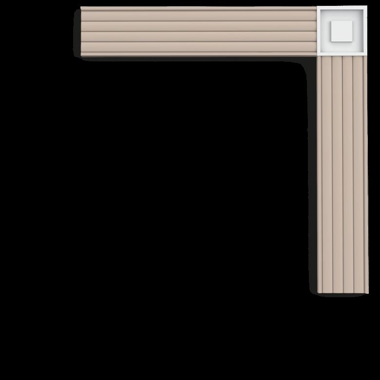 Narożnik blokowy P5020B (wym.9x9x1.3cm)