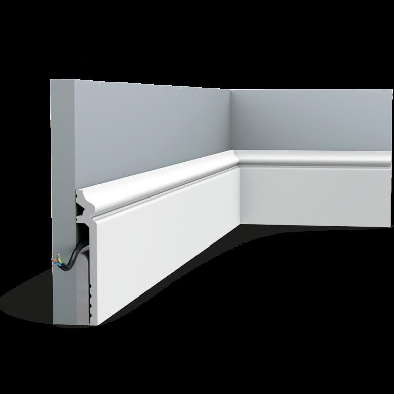 Listwa przypodłogowa SX186* (wym.200x2.2x13.8cm)
