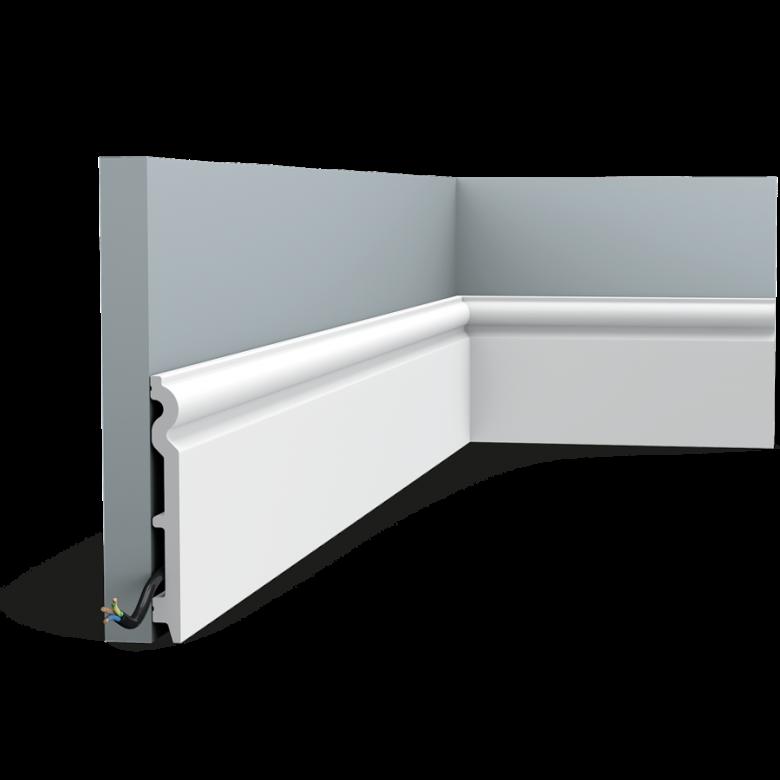 Listwa przypodłogowa gięta SX138F (wym.200x1.5x13.8cm)