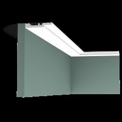 Listwa przysufitowa gięta (flex) gładka SX187F (wym.200x1.2x7.5cm)