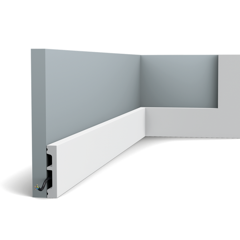 Listwa przypodłogowa SX157F (wym.200x6.6x1.3cm)
