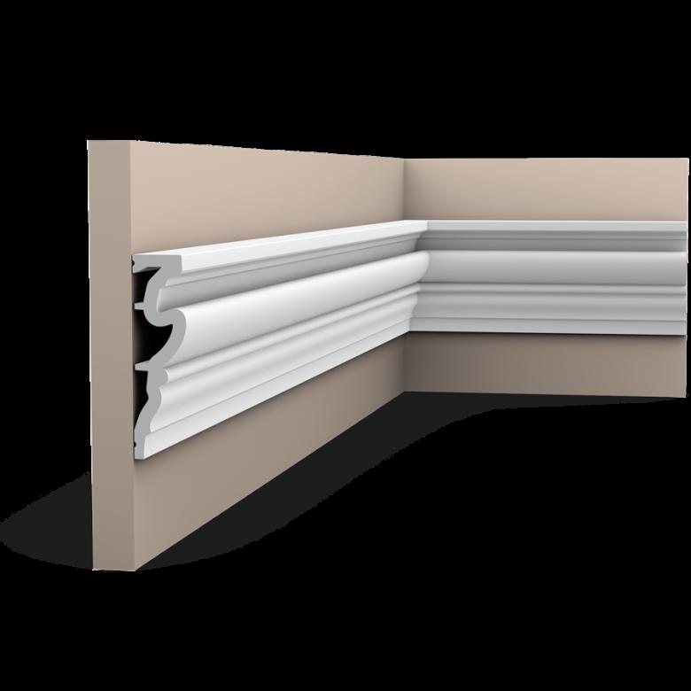 Listwa ścienna gładkaDX170-2300* (wym.230x3.2x11.9cm)